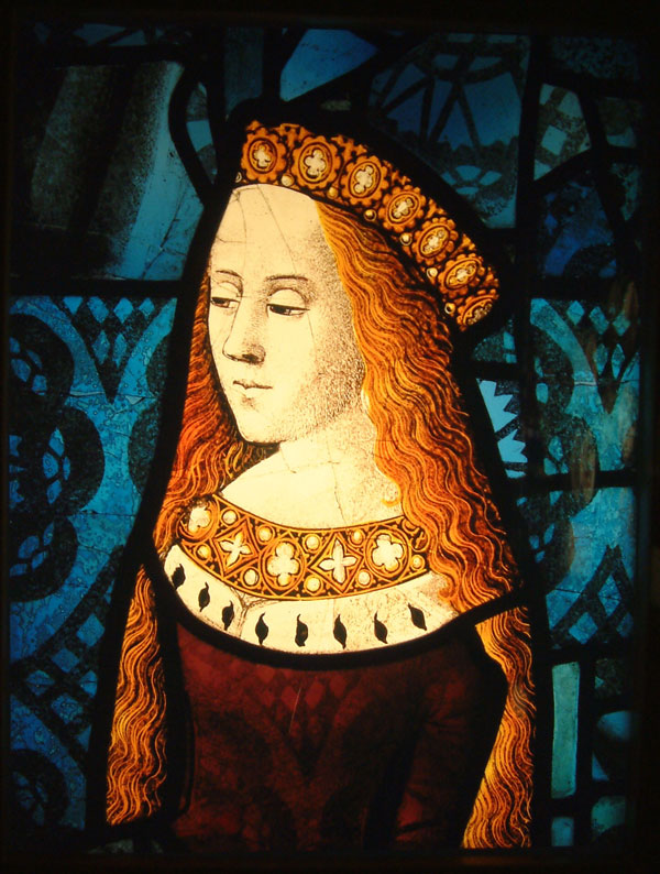 BURRELL COLLECTION – PRINCESS CECILY FROM THE ROYAL WINDOW IN CANTERBURY CATHEDRAL.jpg