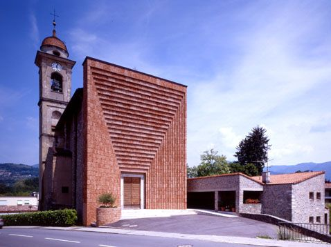 Fa 231 ade for the parish church in genestrerio ticino switzerland 01