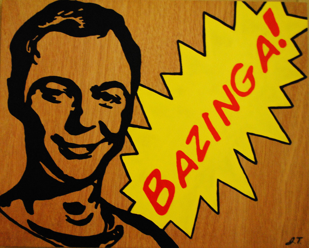 sheldon cooper, bazinga, big bang theory