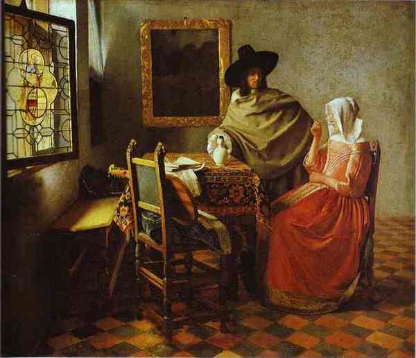 Jan Vermeer - The Glass of Wine .JPG