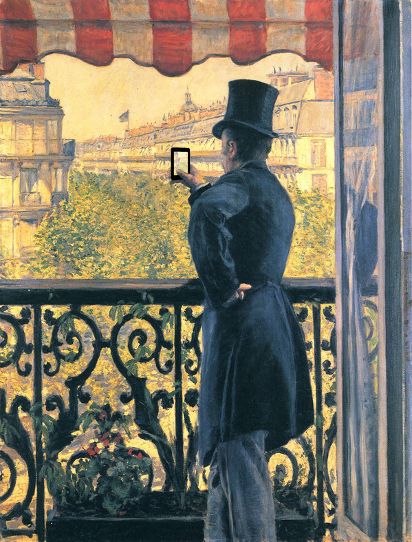 """L'homme Au Balcon"" by Gustave Caillebotte.jpg"