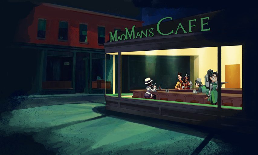 Nighthawks - mad mans.JPG