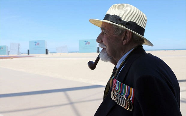 b-British veteran James Rawe at the D-Day commemorations held today on Sword beach.jpg