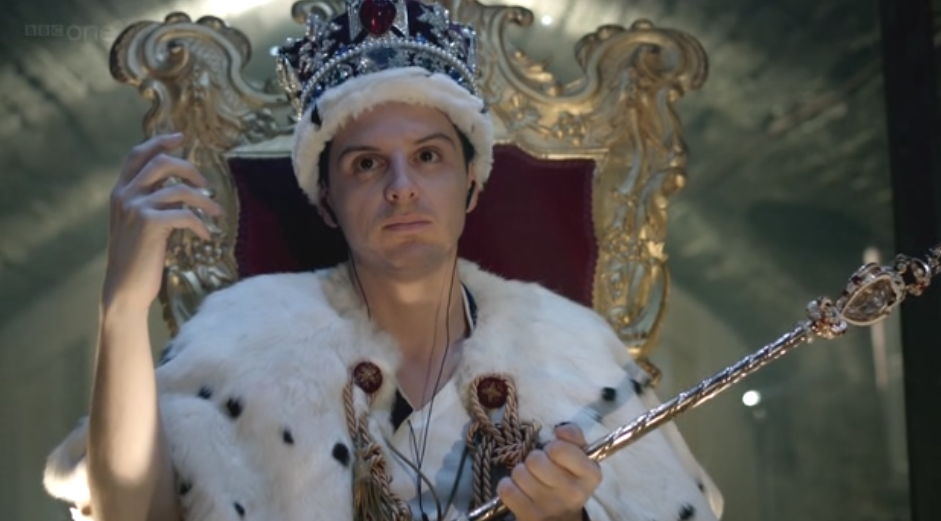 Andrew Scott as Jim Moriarty on Sherlock Series Two Finale The Reichenbach Falll.png