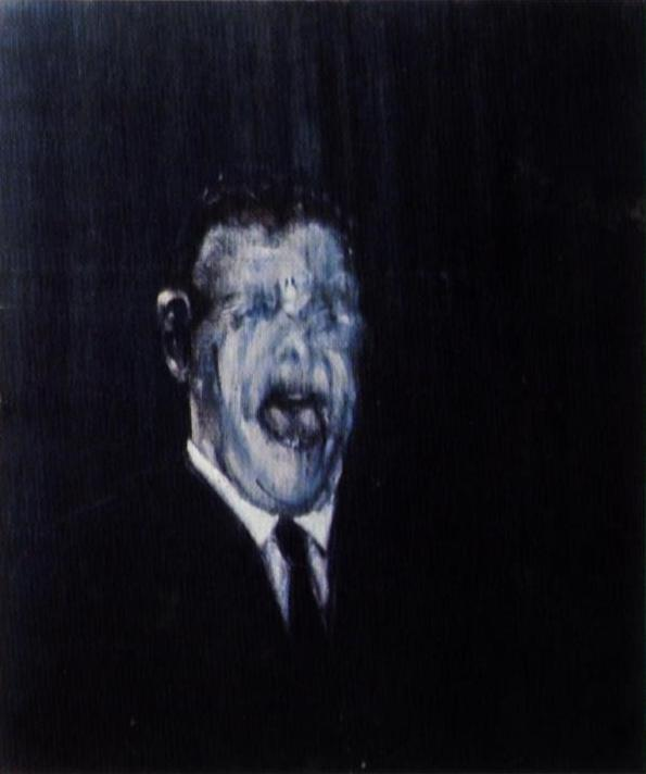 francis bacon - three studies of the human head 1953 (center panel) .JPG