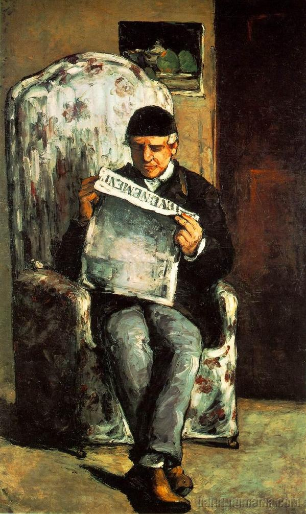 Paul Cézanne - (1866) Louis-Auguste Cézanne lendo L´Evenement.jpg