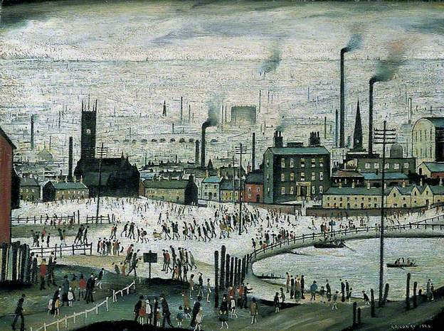An Industrial Town by Laurence Stephen Lowry 1944.jpg