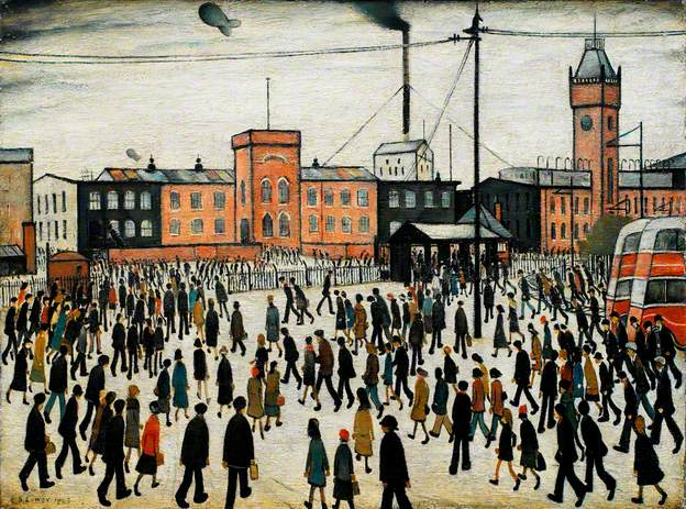 Going to Work by Laurence Stephen Lowry 1943.jpg