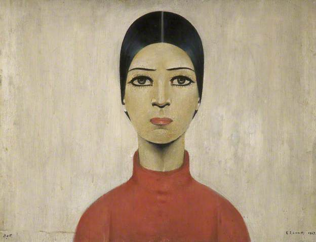 Portrait of Ann by Lawrence Shephen Lowry 1957.jpg
