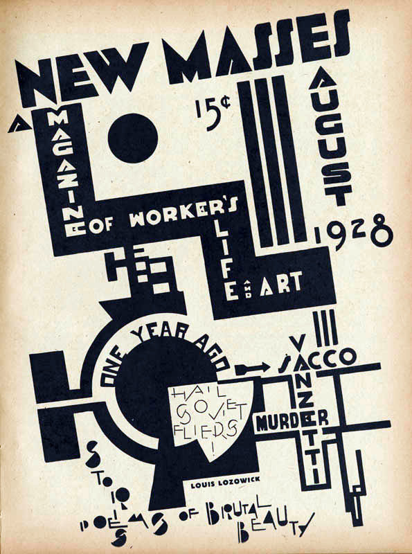 Louis Lozowick, New Masses Cover Aug. 1928.jpg